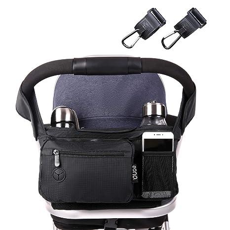 Eono Essentials – Bolso para carrito de bebé con abundancia de espacio para iPhones, iPads