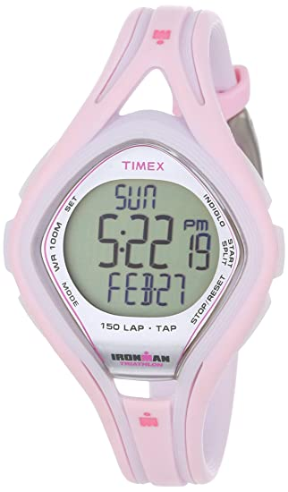 Timex Ironman T5K506 - Reloj de Mujer de Cuarzo, Correa de Caucho Color Rosa: Timex: Amazon.es: Relojes