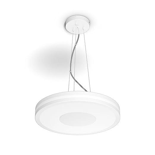 Philips Hue White Ambiance Being - Lámpara Colgante blanca con mando, Iluminación inteligente, compatible con Amazon Alexa, Apple HomeKit y Google ...