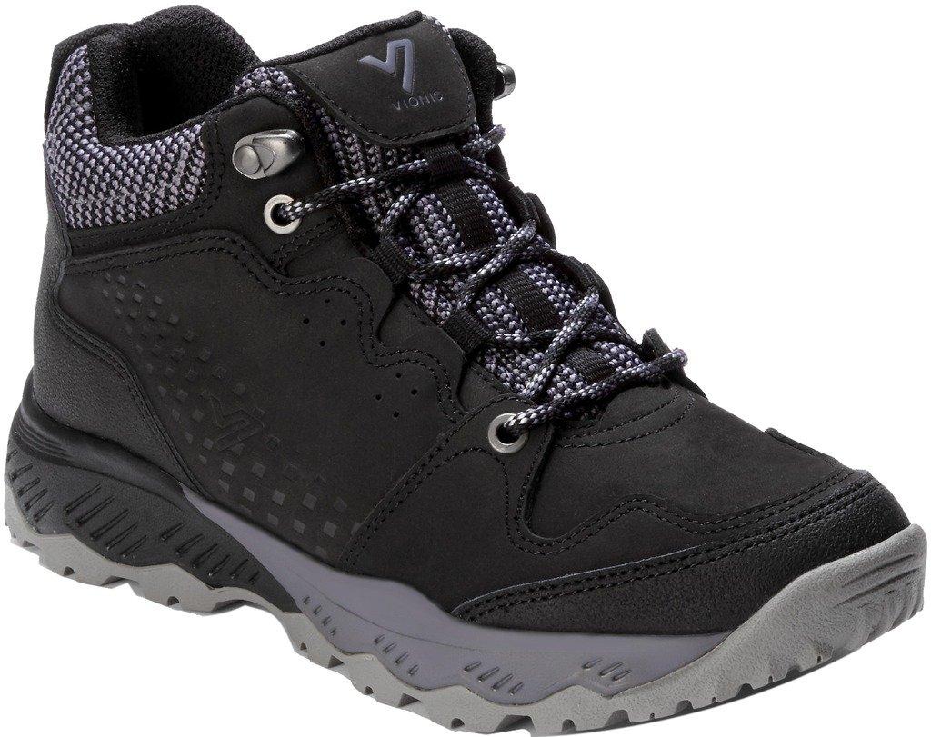 Vionic Women's Everett Mid Top Hiking Shoes Black 8.5 M