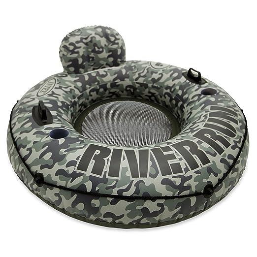 INTEX River Run - Flotador con asiento, 135 cm diametro, verde: Amazon.es: Juguetes y juegos