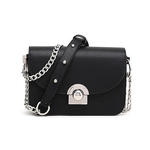 Amazon.com: Toping Fine Women Messenger Bag Chains PU ...