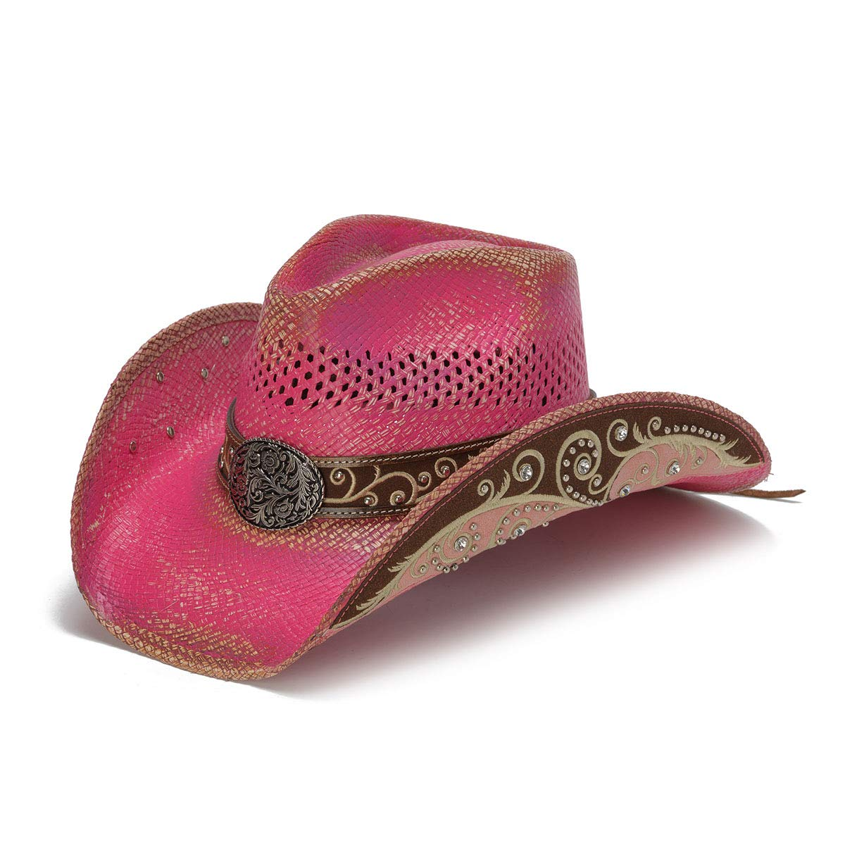 Stampede Hats Women's Burn The Breeze Flower Filigree Cowboy Hat S Pink by Stampede Hats