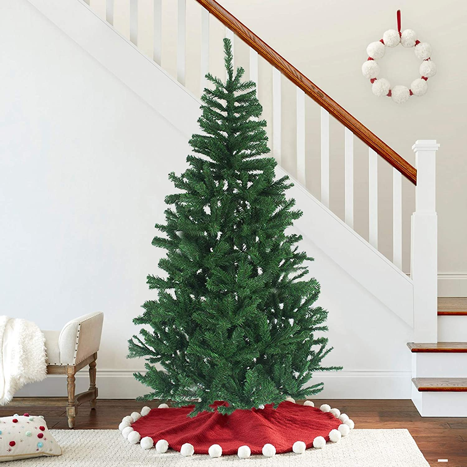 Amazon Com Maggift 6 Ft Artificial Christmas Tree Upgrade Fake Xmas Tree With Premium Metal Legs Home Holiday Christmas Decorations Easy Assembly 850 Tips Home Kitchen