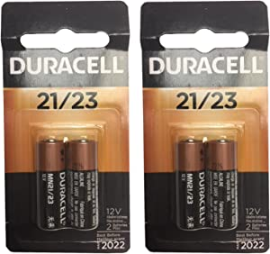 2x 2pk Duracell MN21 Alkaline 12V Battery Car Alarm Remotes Key Fob USA SHIP