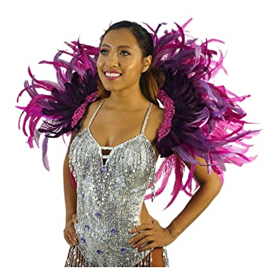 Amazon.com: Mochila con plumas de carnaval para disfraz de ...