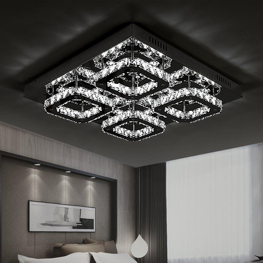 Style home® Kristal LED Deckenlampe Deckenleuchte Wandlampe 32W 6813 ...