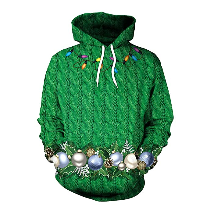 Sudaderas para Hombre, RETUROM Hombres de otoño Invierno 3D impresión de Navidad Camisas Blusa Top chándales: Amazon.es: Ropa y accesorios