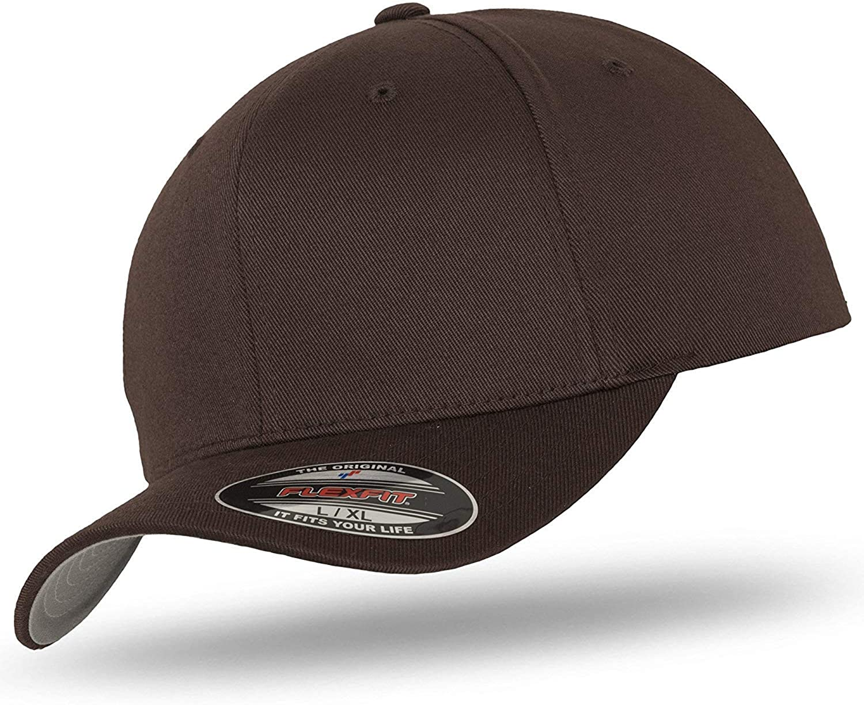 Flexfit Original Basecap Baseball Cap Kappe Wooly Combed im Bundle mit UD Skull Bandana in vielen Farben