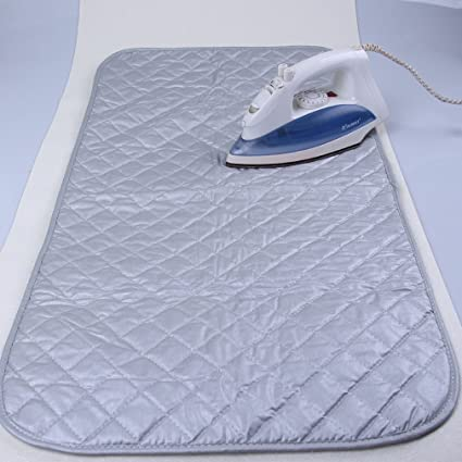 Ironing Pad Mat Portable Travel Ironing Blanket Cotton Thickened Heat  Resistant Ironing Water Absorbent Pad Cover