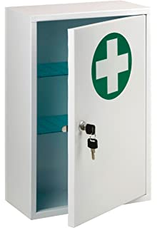 NEW MEDICAL CABINET FIRST AID WALL MOUNTED MEDICINE KIT TABLET BOX ...