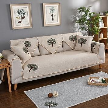 Tywj Sofa Matten Anti Rutsch Leinen Sofabezug Gegen Leckagen