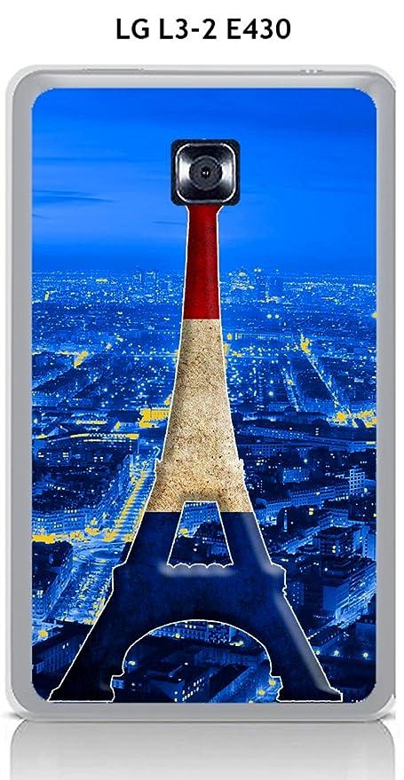 Carcasa para LG L3 - 2 e430 Design París Torre Azul Blanco ...