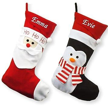 Personalised Luxury Embroidered Christmas Stockings - Santa ...
