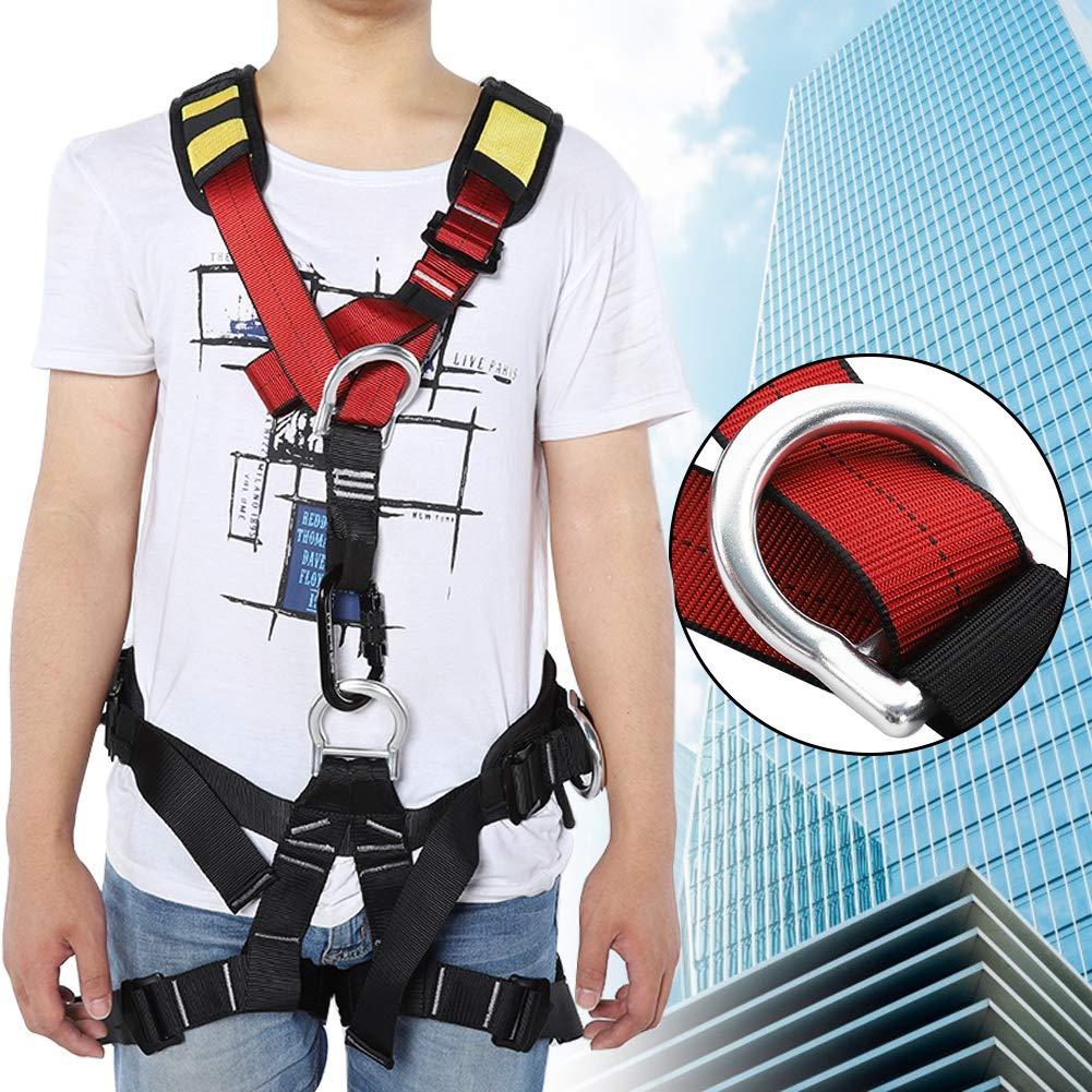 Imbracatura da arrampicata di alta qualit/à cintura di sicurezza regolabile a met/à corpo imbracatura da arrampicata cintura di sicurezza multiuso per arrampicata su roccia lavoro aereo. alpinismo