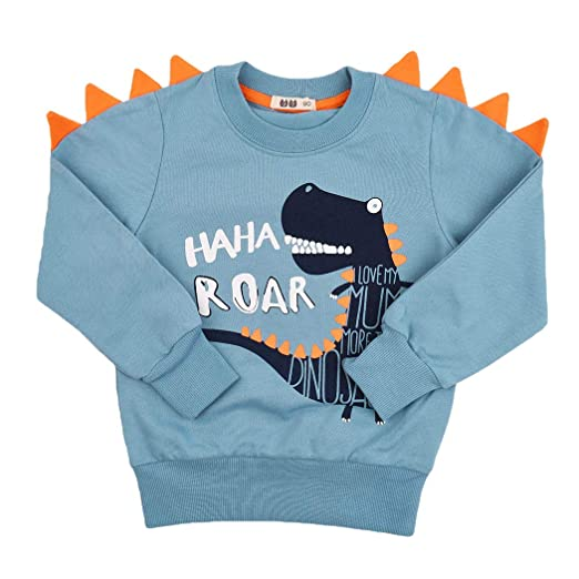 3c7cc7b27 Amazon.com  Little Boys Dinosaur Sweatshirt Toddler Top T-Shirt Rex ...