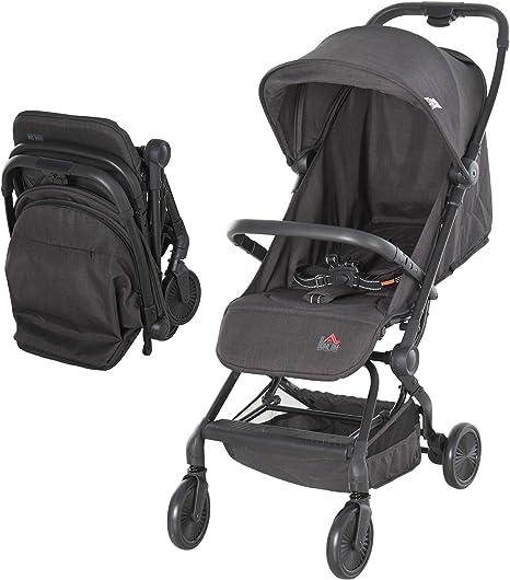 Opinión sobre HOMCOM Silla de Paseo Plegable Ligero Cochecito para Bebé a partir 6 Meses Asiento Reclinable Cinturón de Seguridad Toldo Extraíble 44,5x93,5x105cm Gris