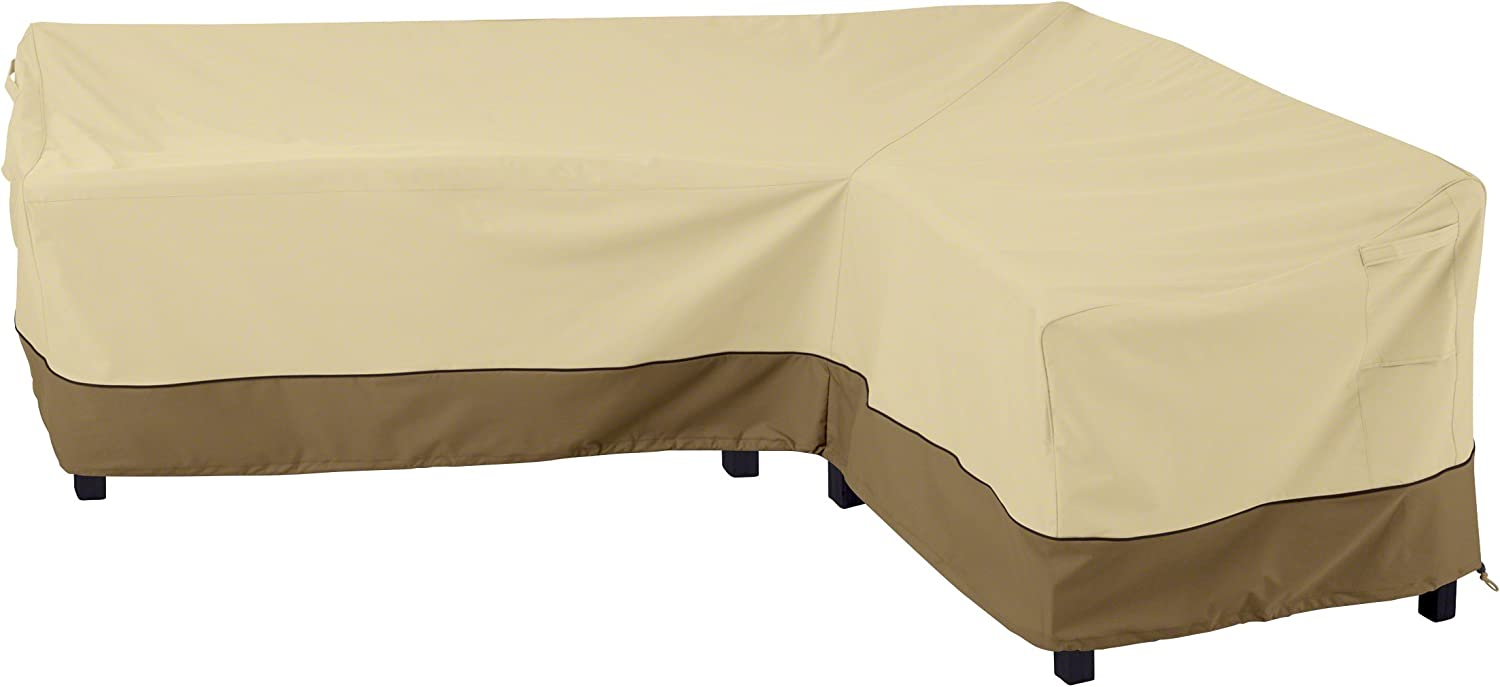 Classic Accessories Veranda L-Shaped Sectional Sofa Cover, Right Facing, Large