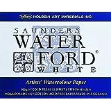 ホルベイン ウォーターフォード水彩紙 ブロック 中紙300g(中厚口) 中目 ホワイト 12枚とじ 270-934 EHB-F6