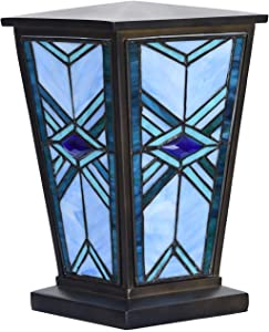 Bieye CU001 Mission Tiffany Style Stained Glass Decorative Cremation Urn, 7