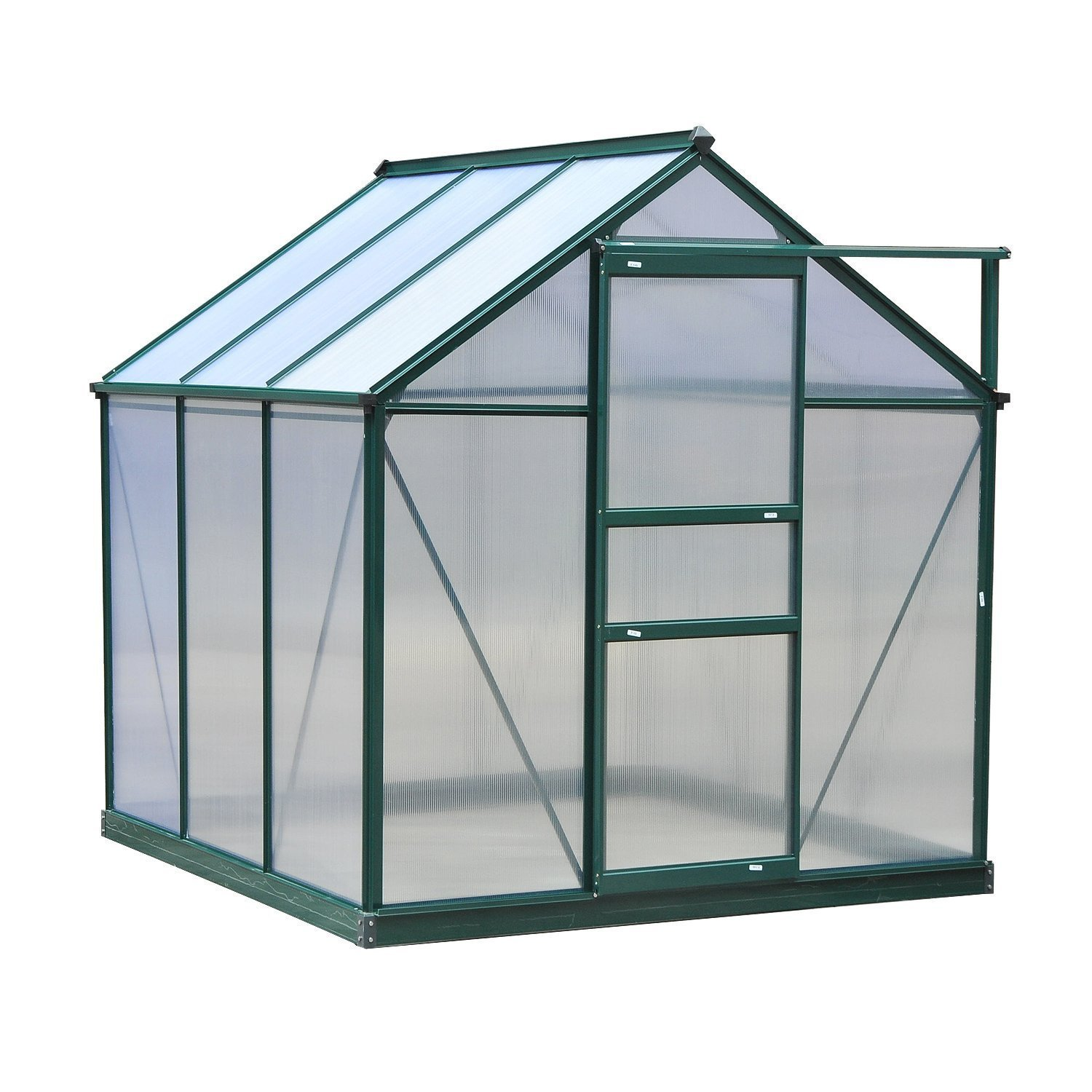 Outsunny 6'L x 6'W x 7'H Polycarbonate Portable Walk-In Garden Greenhouse by Outsunny