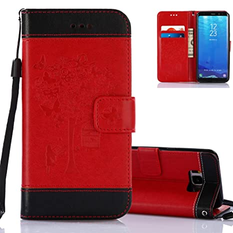 coque samsung s8 cover flip rouge