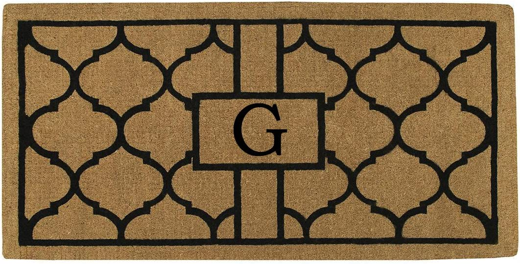 Home More 180083672G Pantera 3 X 6 Extra-Thick Monogrammed Doormat Letter G