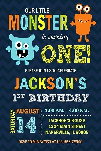 amazon com monster birthday party invitation little monster bash