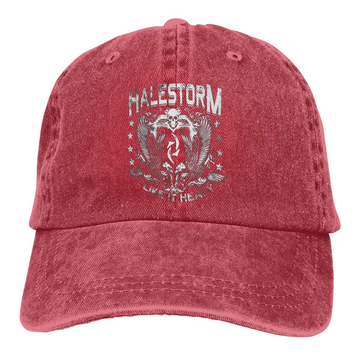 Feeling Unique Halestorm Vintage Jeans Baseball Cap Classic Cotton Dad Hat Adjustable Plain Cap Black