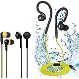 Avantree WATERPROOF IPX8 Secure Fit Sports Earphones, Value Pack Earbuds, 3 Different Types Headphones for Indoor & Outdoor Use