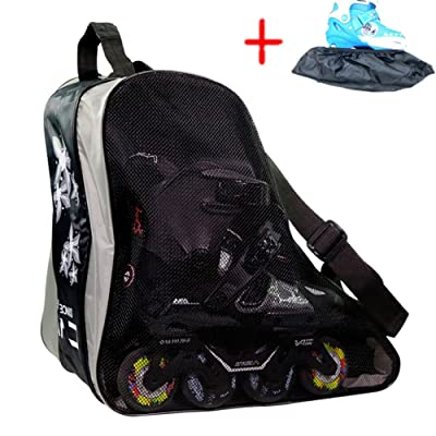 Long Feng Tipip Professional Inline Skates Travel Backpack Bag (Three Floor) (Black) : Sports & Outdoors