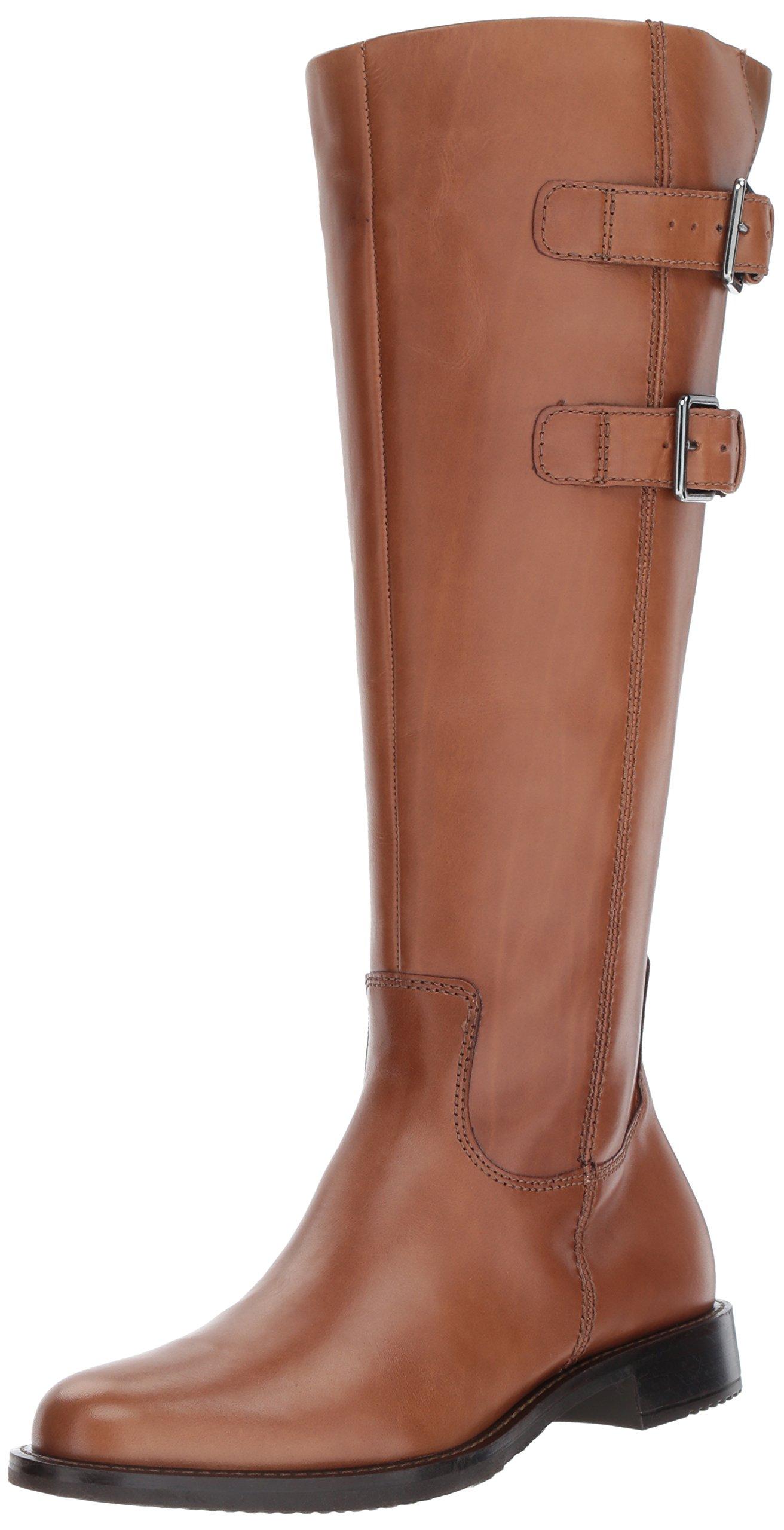 ECCO Women's Shape 25 Tall Buckle Riding Boot,Camel,39 EU/8-8.5 M US