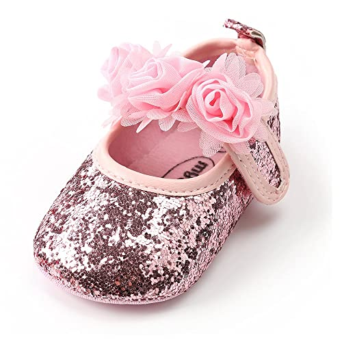 dccfc899b57d9 Antheron Baby Girls Mary Jane Flats Soft Sole Infant Moccasins ...