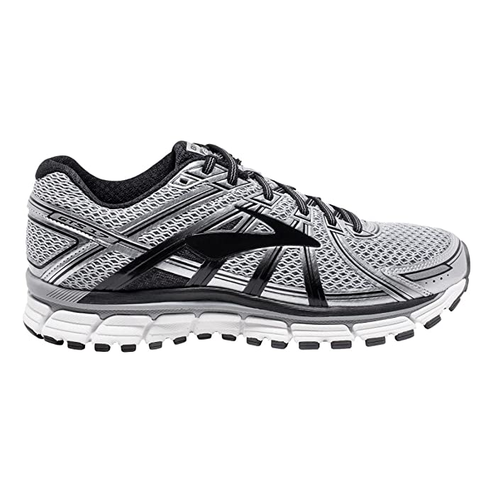 Brooks Men's Adrenaline GTS 17 Running Shoes Silver/Black/Anthracite 8.5