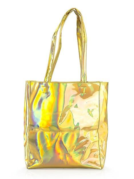 44794e21f6 Choies Women s Hologram PU Shopper (ONESIZE