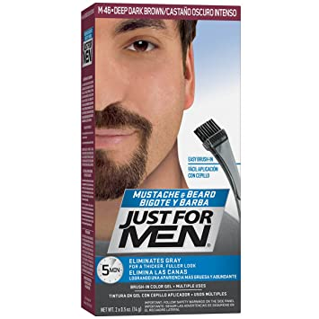 Amazon.com : Just For Men Mustache & Beard Brush-In Color Gel, Deep ...