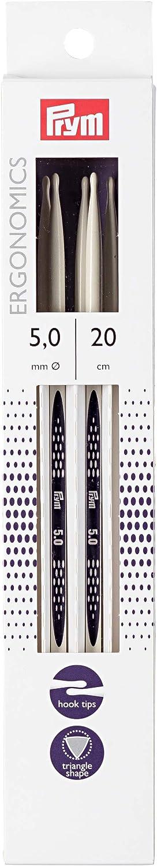 de Metal Prym/ Longitud: 20/cm 5/mm Multicolor Juego de 5 /Agujas de Tejer//ergon/ómico Double-Point