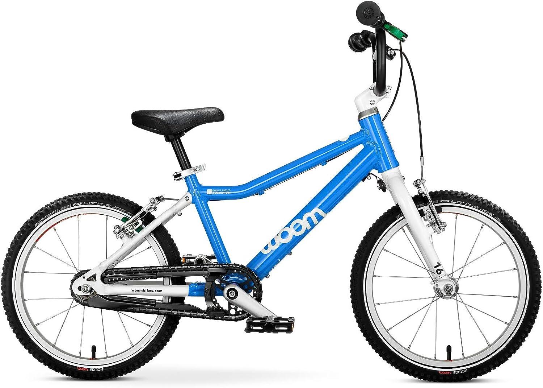 Bicicleta WOOM 3, color azul celeste, tamaño 16