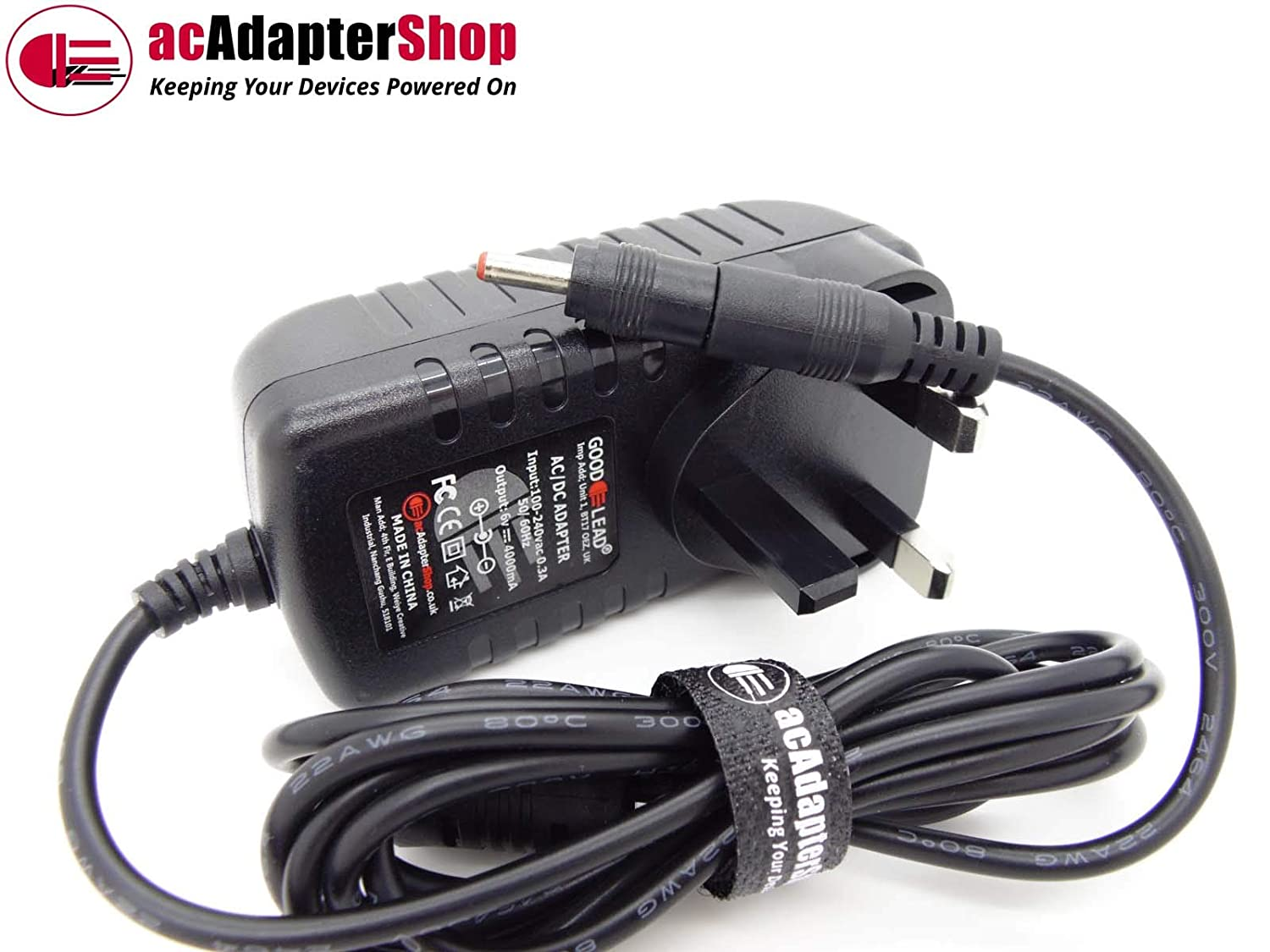 GOOD LEAD Replacement AC Adaptor 6V 3A 6 0V 3 0A ES011 X060300XYB Virgin Telly Tablet