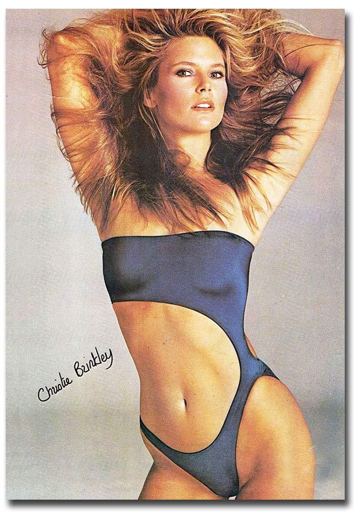 "Christie Brinkley Sexy Blue Swimsuit Refrigerator Magnet Size 2.5"" x 3.5"""