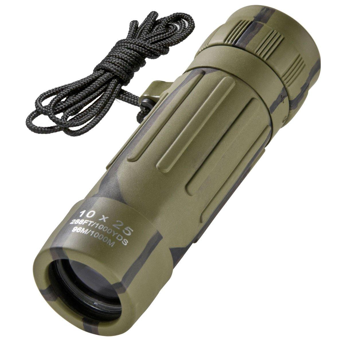 BARSKA Lucid 10x25 Monocular Binocular (Camouflage)