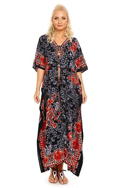 836e788c7870 Looking Glam donna lungo Oversize MAXI kimono tunica caftano Abito da sera  abito  Amazon.it  Abbigliamento