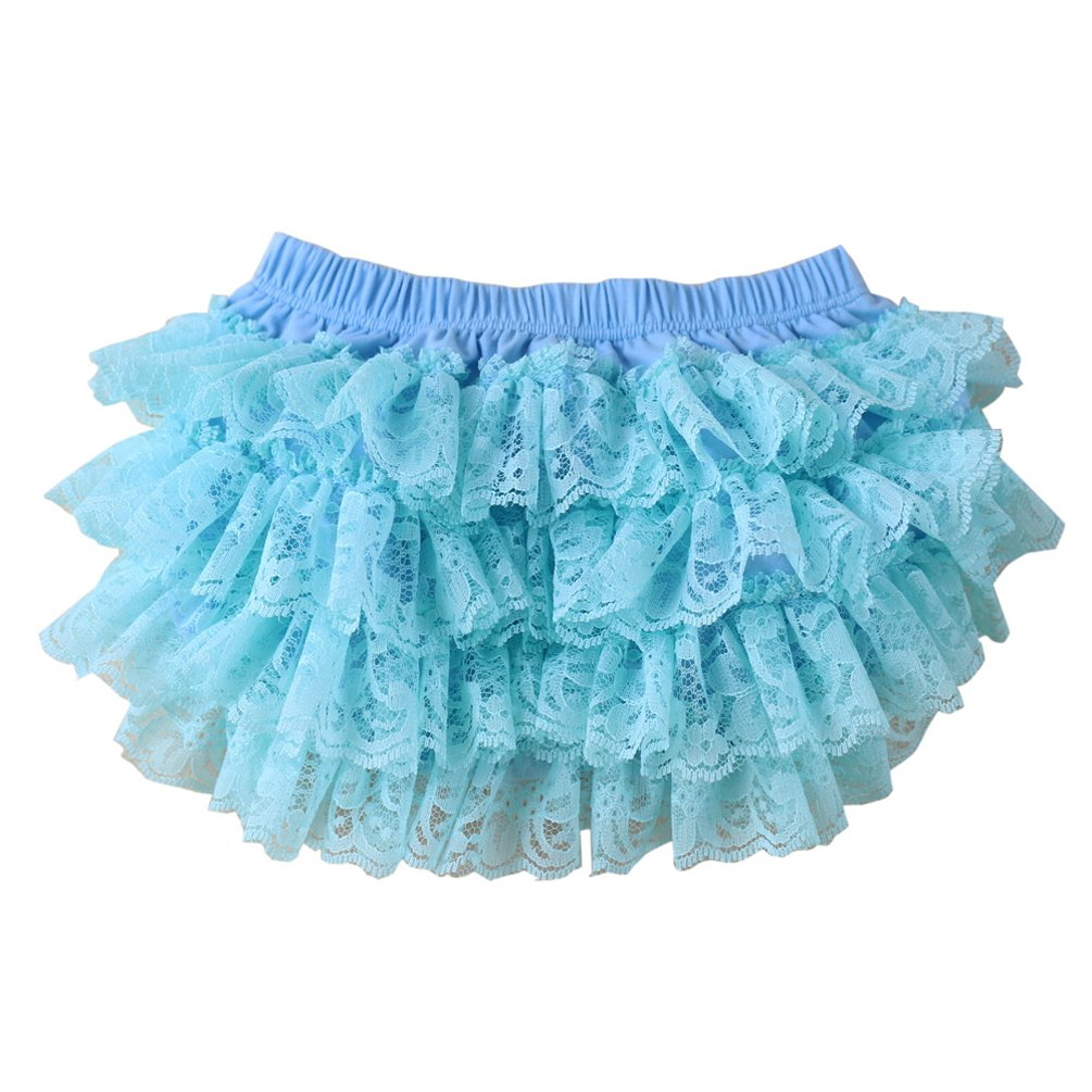 Wennikids Ruffled Lace Baby Diaper Bloomer Covers for 0-24M LC-RS-482