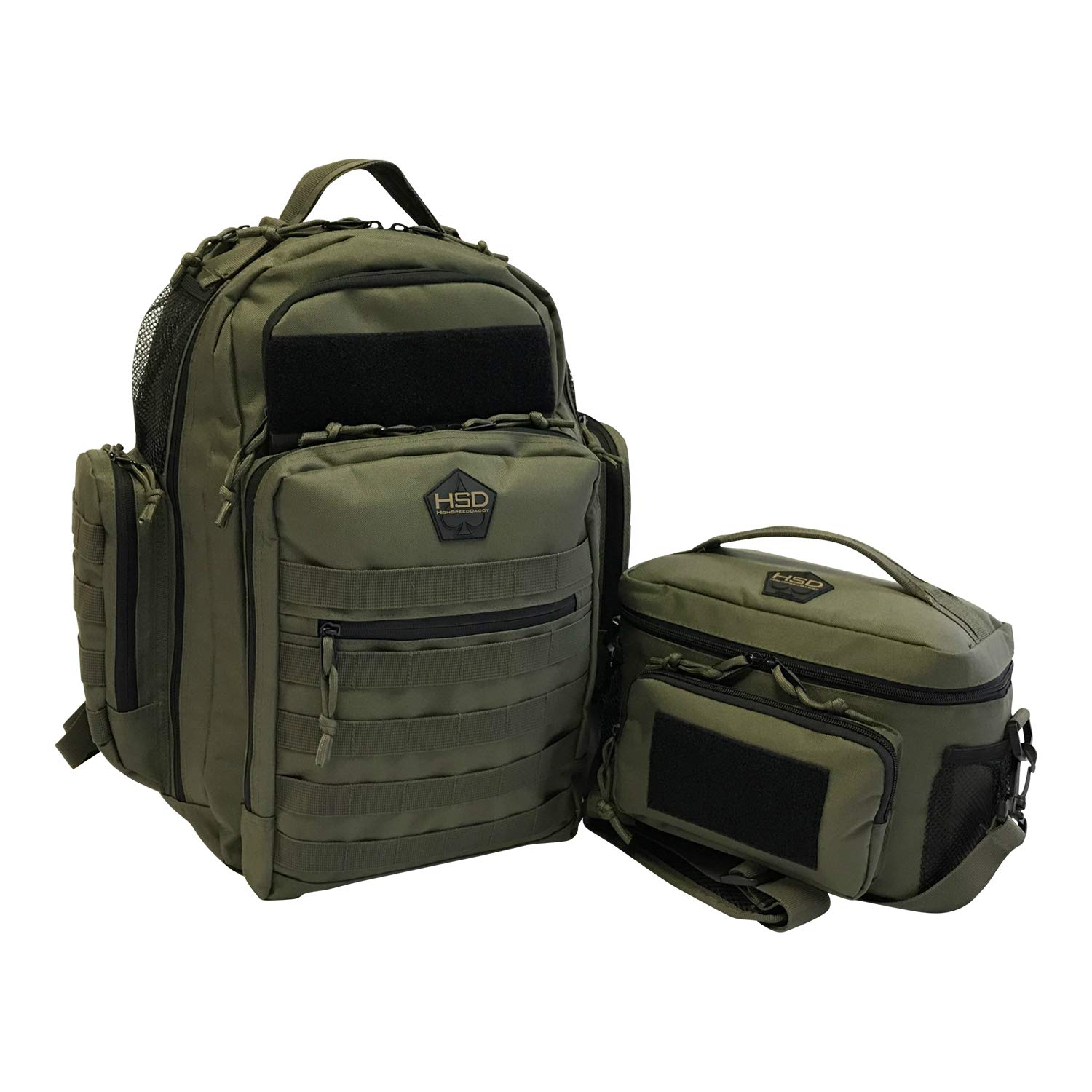 eac9f5b631c Amazon.com   HSD Dynamic Duo Combo Diaper Bag Backpack + Tactical Lunch Bag  for The Tactical Dad (Ranger Green)   Baby