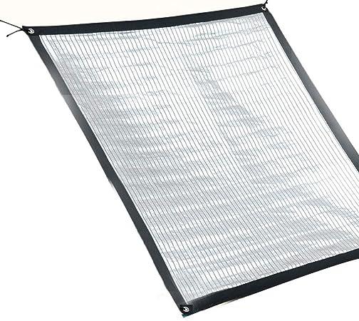 MAHFEI Malla Sombra De Red Papel De Aluminio Red Solar Pérgola Patio Plan De Proteccion Sombra Fuerte Fuerte Reflexion Anti-Ultravioleta Agujero De Metal 10 Tallas (Color : Silver, Size : 1x2m): Amazon.es: