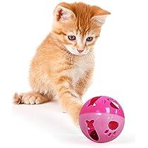 Amazon.com: Pelota de gato con campana para gatos y otros ...