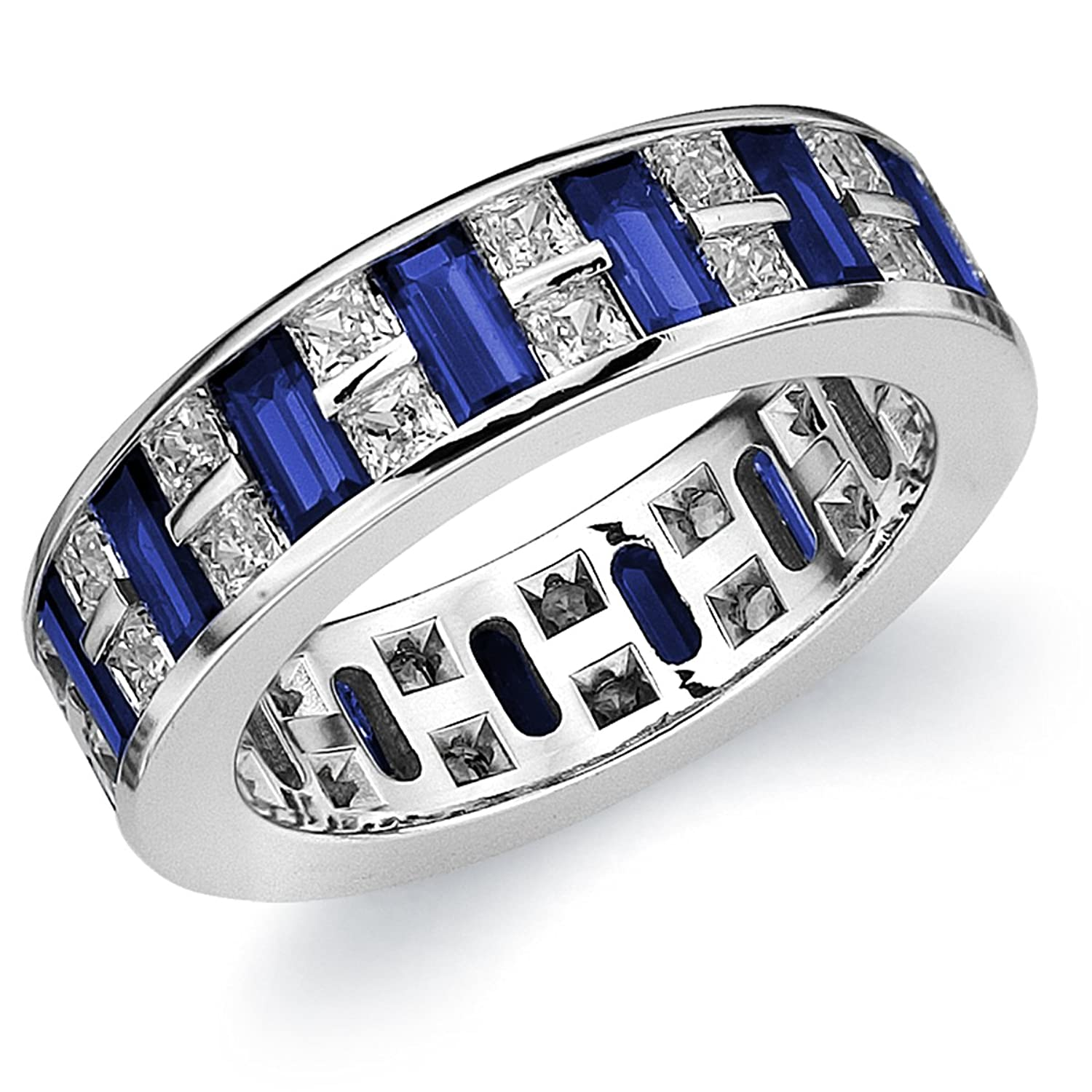 com eternity platinum blue jewelry sapphire amazon bands set channel ring band dp