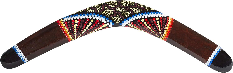 Bumerangset 3X Bumerang braun//dotpainting Inclusive Bumerang Standards Australian Treasures