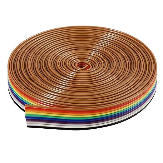 7 opinioni per Cavo piatto del nastro BESTOMZ 5M 10 pin IDC cavo arcobaleno