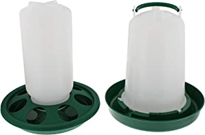 Rural365 Chick Feeder and Waterer Set - Automatic Chicken Feeder Chick Food Dish and Hanging Poultry Waterer Bayonet